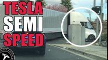 Neskutočné zrýchlenie kamiónu Tesla Semi na diaľnicu!